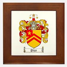 Pope Family Crest Framed Tile