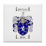 Poole Family Crest Tile Coaster