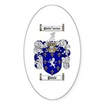 Poole Family Crest Oval Sticker
