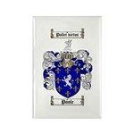 Poole Family Crest Rectangle Magnet (10 pack)