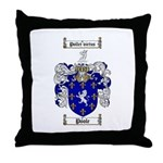 Poole Family Crest Throw Pillow
