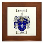 Poole Family Crest Framed Tile