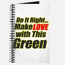 Make Love with this Green Journal