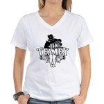 TexMexFM.com Women's V-Neck T-Shirt