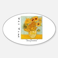 Sunflowers Oval Decal