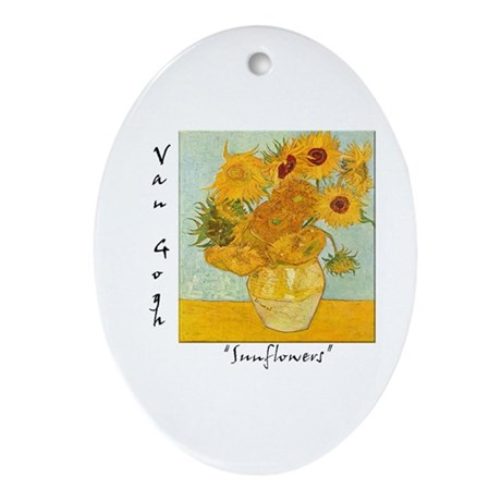 Sunflowers Oval Ornament