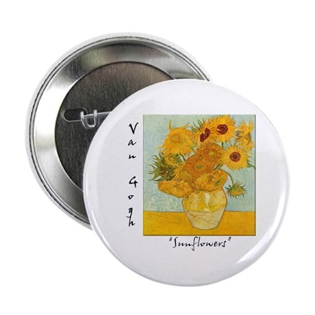 """Sunflowers 2.25"""" Button (10 pack)"""