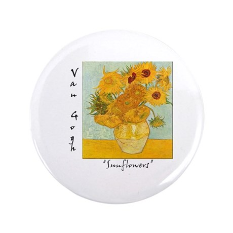 "Sunflowers 3.5"" Button (100 pack)"