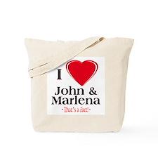 I Heart John & Marlena Tote Bag
