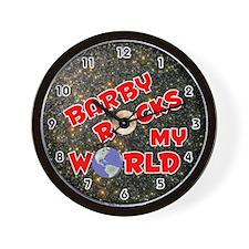 Barby Rocks My World (Red) Wall Clock