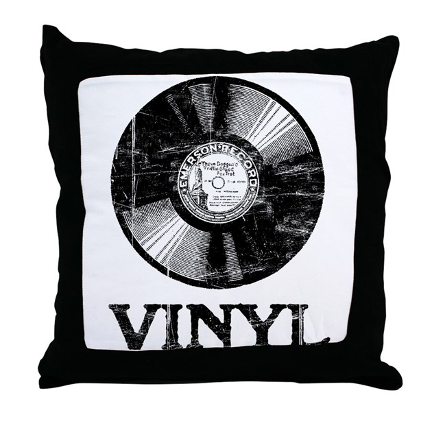 Vinyl Throw Pillows : Vinyl Throw Pillow by esangha