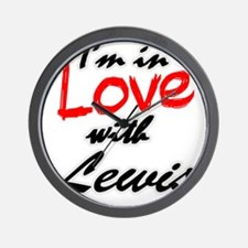 n love with Lewis Wall Clock