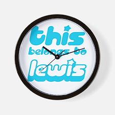 this belongs to Lewis Wall Clock