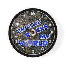 Enrique Rocks My World (Blue) Wall Clock