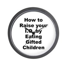 How to raise your iq by eating gifted children Wall Clock