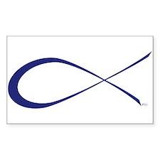 Ichthys (Jesus Fish) Rectangle Decal