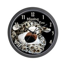 Leopard Face Missing You Wall Clock