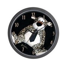 Leopard with Tie Wall Clock