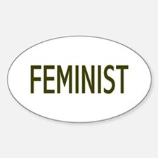 """Feminist"" Oval Decal"