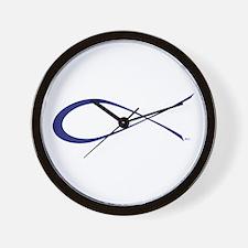 Ichthys - The Jesus Fish Wall Clock