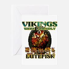 Lutefisk Scandinavian humor Greeting Card