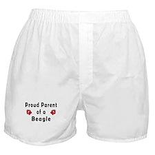 Proud Parent of A Beagle Boxer Shorts