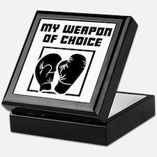 Boxing - WeaponOfChoice Keepsake Box