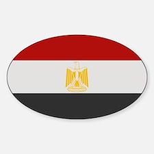 """""""Egypt Flag"""" Oval Decal"""