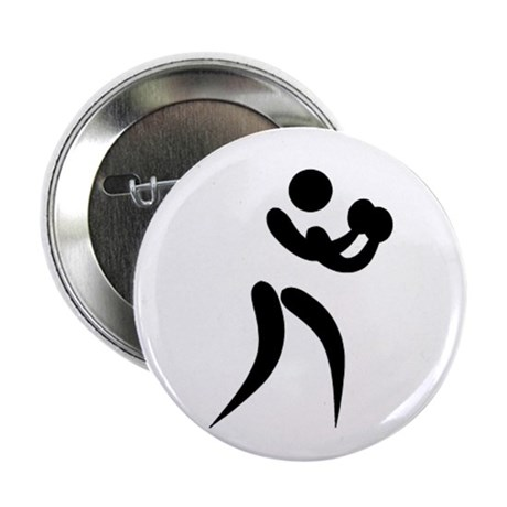 """Boxing Pictogram 2.25"""" Button (10 pack)"""