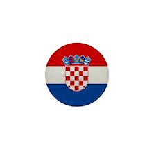 """""""Croatia Flag"""" Mini Button"""