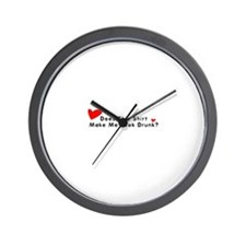 Valentine's Does This T-Shirt Wall Clock