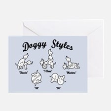 Doggy Styles Greeting Cards