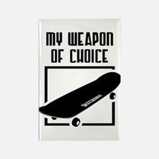 Skateboarding - WeaponOfChoice Rectangle Magnet