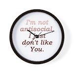 Funny Antisocial Joke Wall Clock