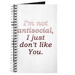 Funny Antisocial Joke Journal