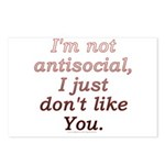 Funny Antisocial Joke Postcards (Package of 8)