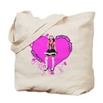Female Valentine Wanted (Pink) Tote Bag