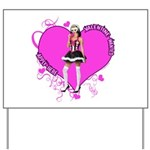 Female Valentine Wanted (Pink) Yard Sign
