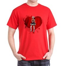 Female Valentine Wanted (Red) T-Shirt