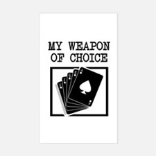 Poker - WeaponOfChoice Rectangle Decal