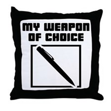 Writer - WeaponOfChoice Throw Pillow