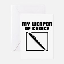 Writer - WeaponOfChoice Greeting Cards (Pk of 20)