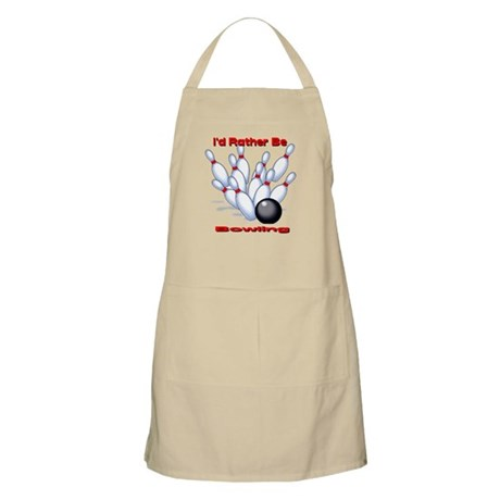 I'd Rather Be Bowling BBQ Apron