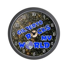 Gilberto Rocks My World (Blue) Wall Clock