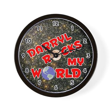 Darryl Rocks My World (Red) Wall Clock