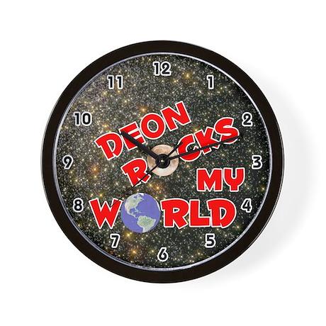 Deon Rocks My World (Red) Wall Clock