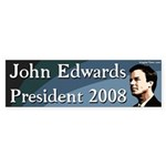 John Edwards President 2008 Bumpersticker