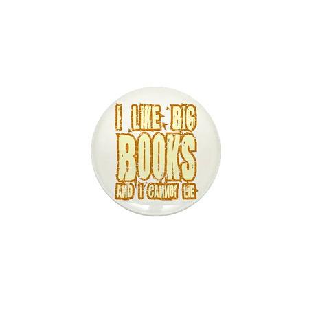 I Like Big Books Mini Button