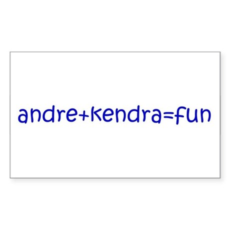 andre+kendra=fun Rectangle Sticker