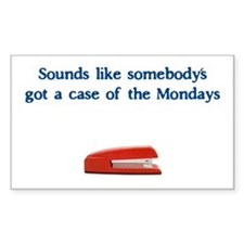 Case of the Monday's Rectangle Decal